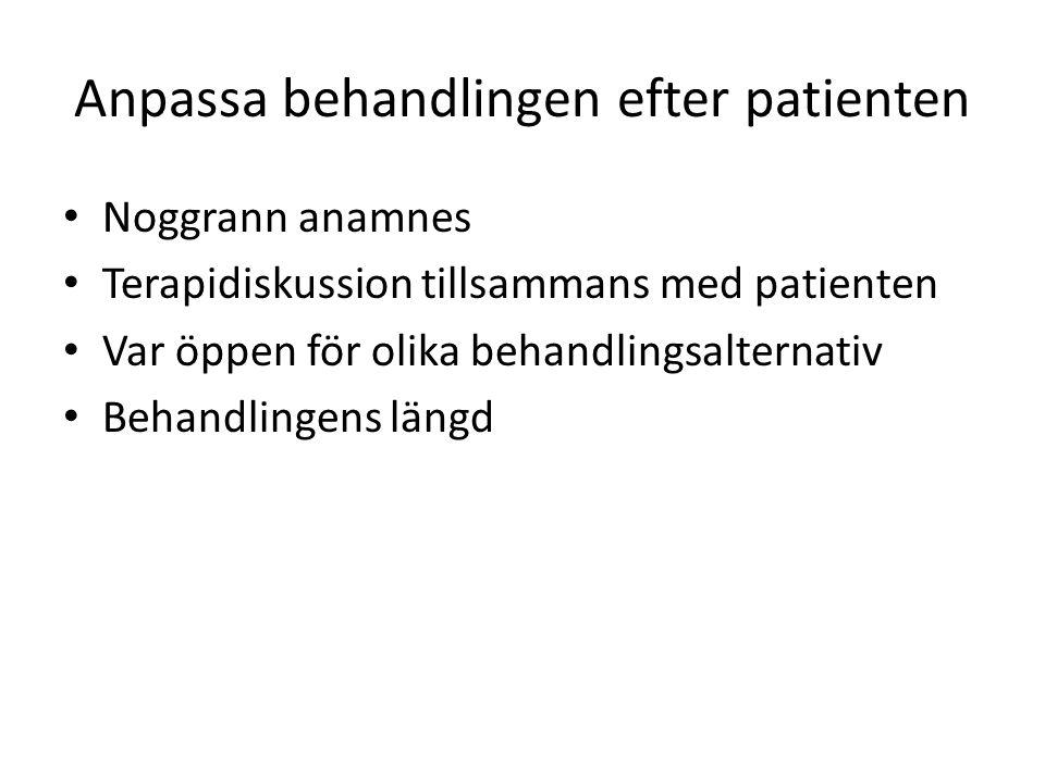 Anpassa behandlingen efter patienten