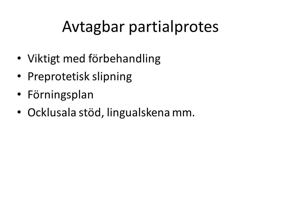 Avtagbar partialprotes