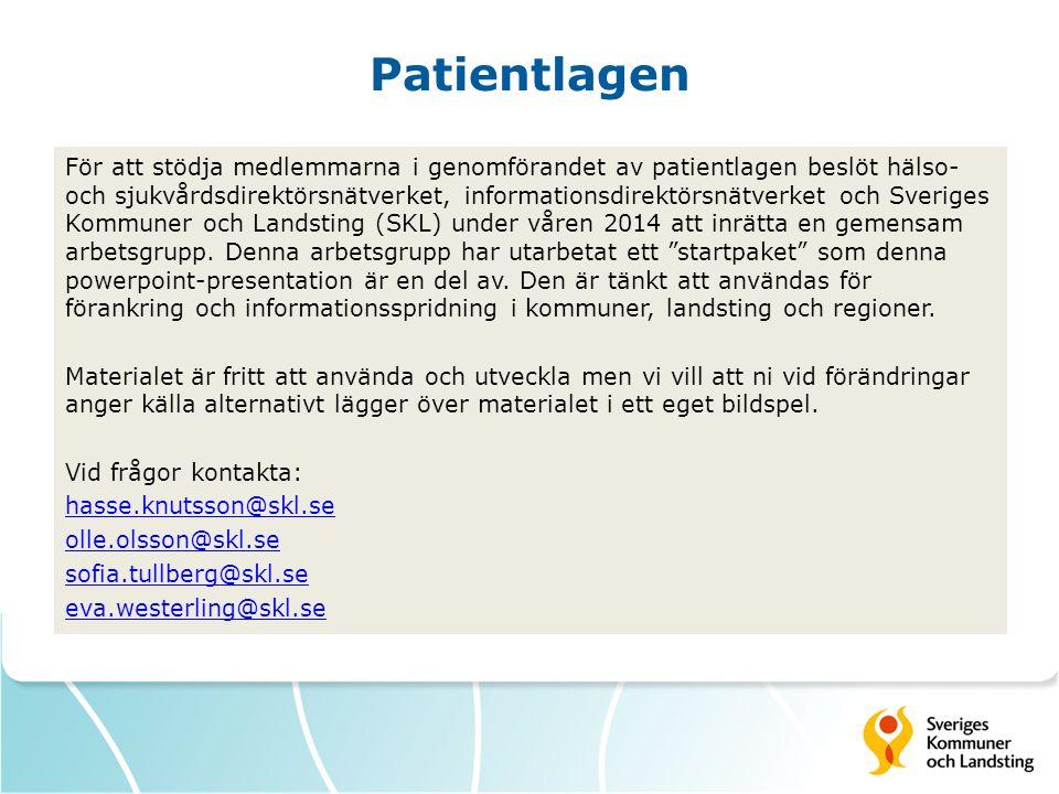 Patientlagen