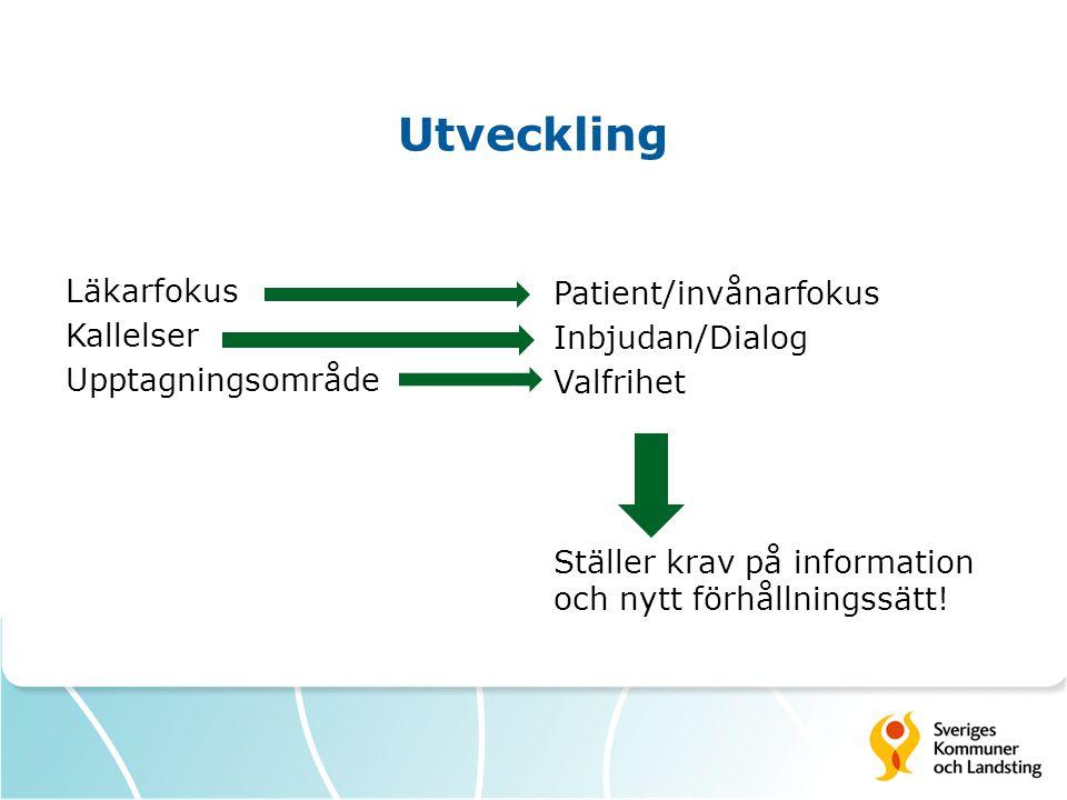 Utveckling Läkarfokus Kallelser Upptagningsområde