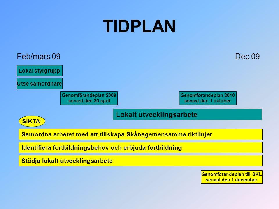 Genomförandeplan till SKL