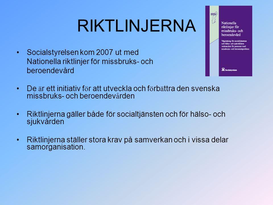 RIKTLINJERNA Socialstyrelsen kom 2007 ut med