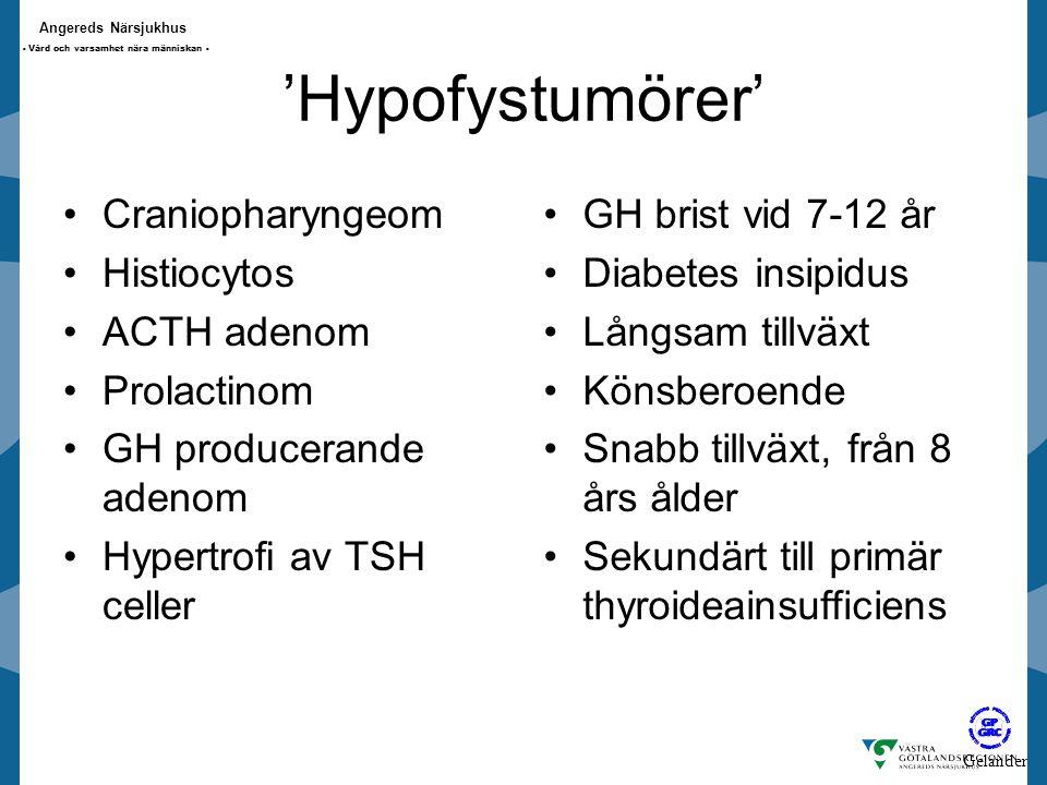 'Hypofystumörer' Craniopharyngeom Histiocytos ACTH adenom Prolactinom