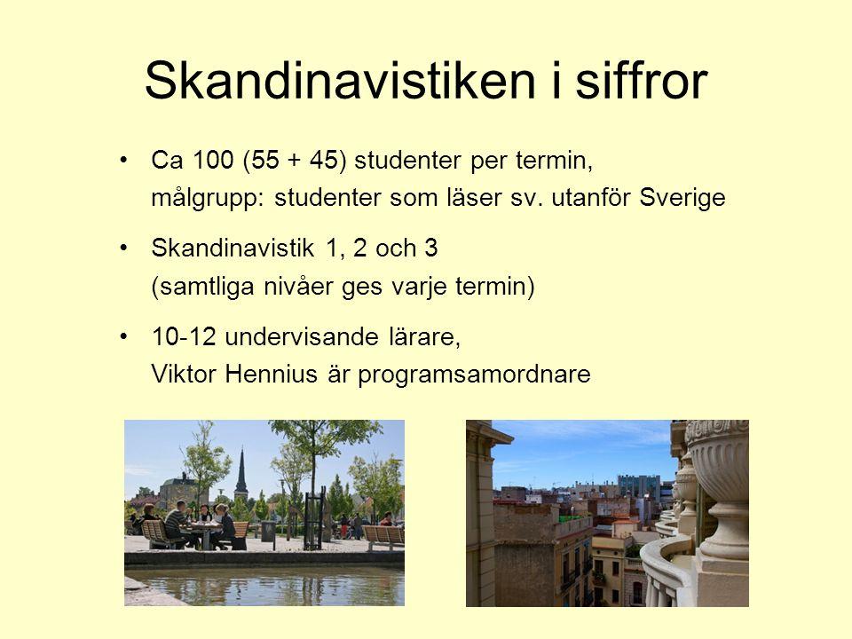 Skandinavistiken i siffror