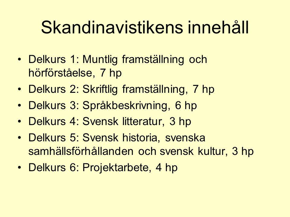 Skandinavistikens innehåll