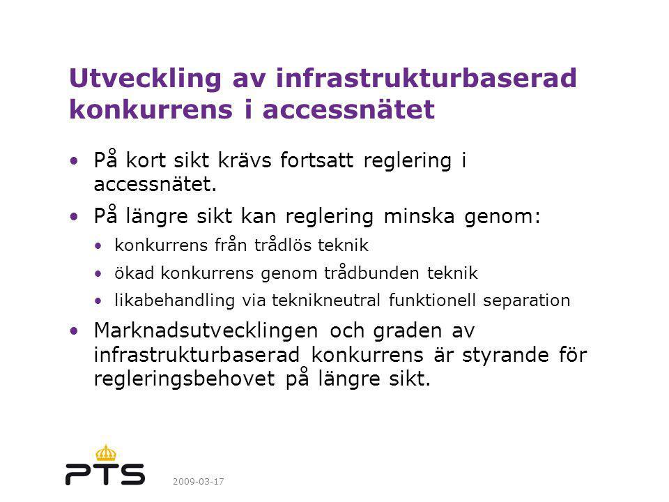 Utveckling av infrastrukturbaserad konkurrens i accessnätet