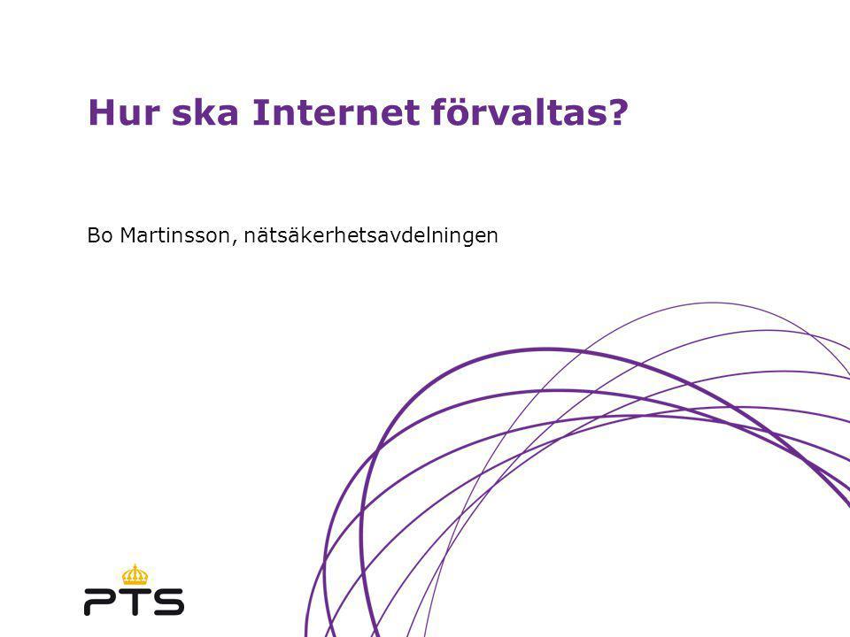 Hur ska Internet förvaltas