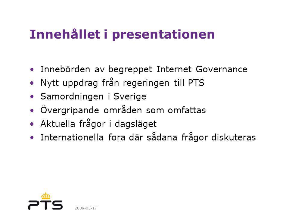 Innehållet i presentationen