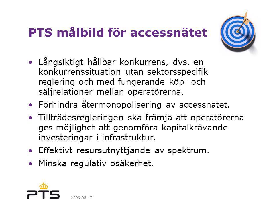 PTS målbild för accessnätet