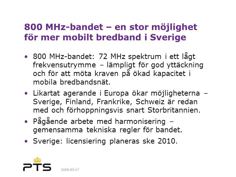 800 MHz-bandet – en stor möjlighet för mer mobilt bredband i Sverige