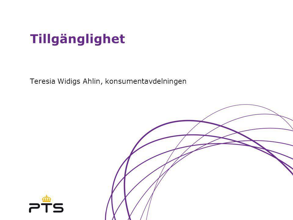Teresia Widigs Ahlin, konsumentavdelningen
