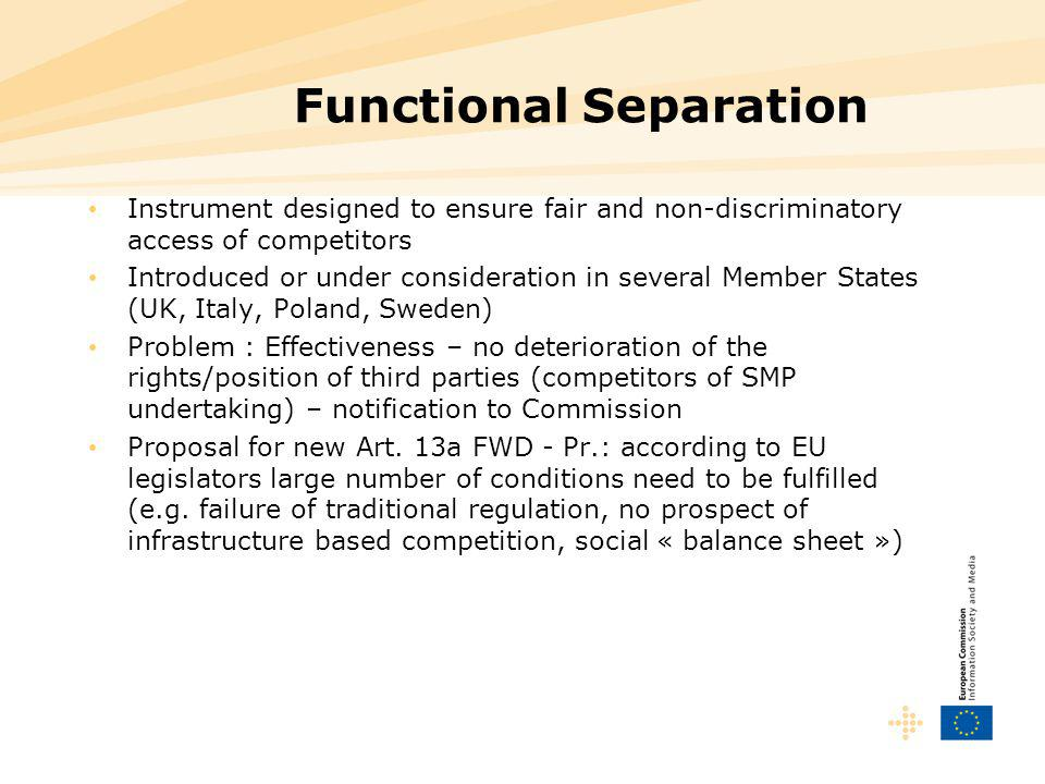 Functional Separation