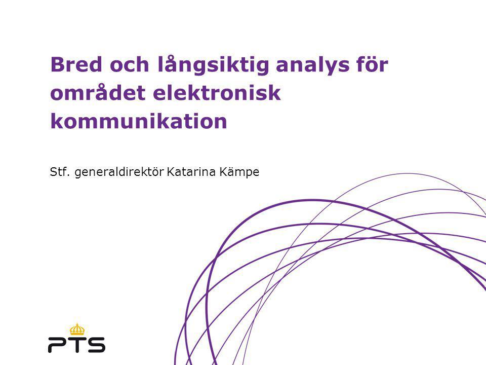 Bred och långsiktig analys för området elektronisk kommunikation