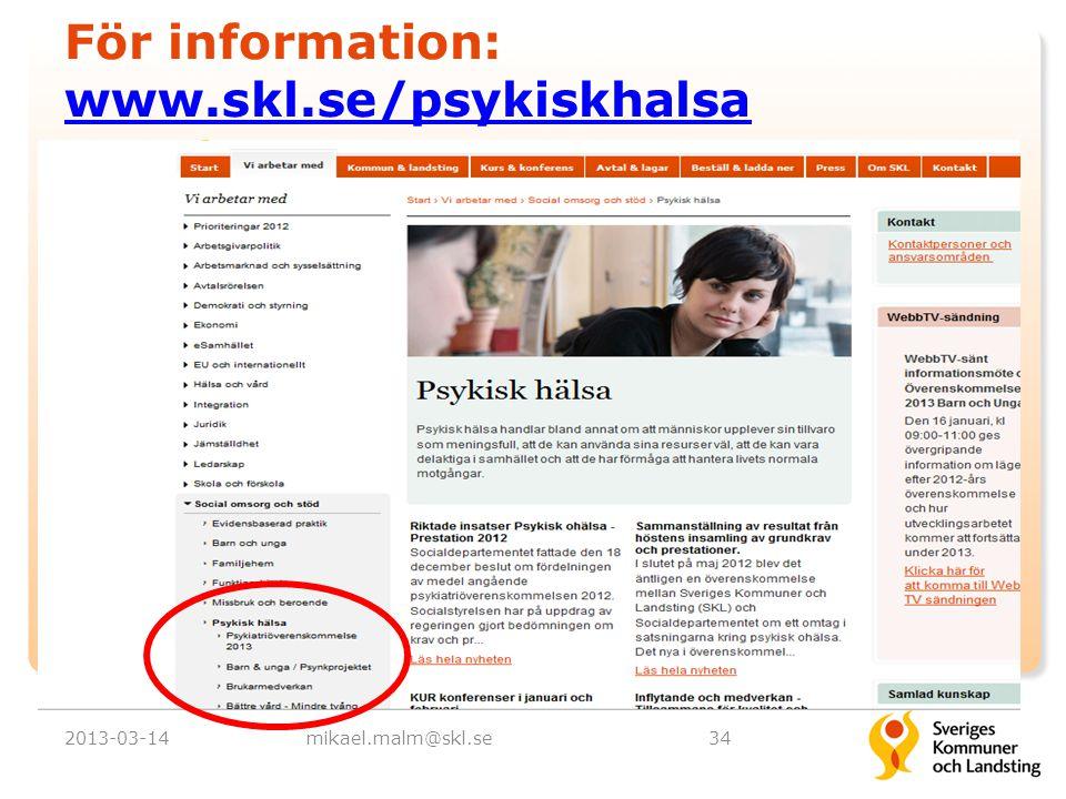 För information: www.skl.se/psykiskhalsa