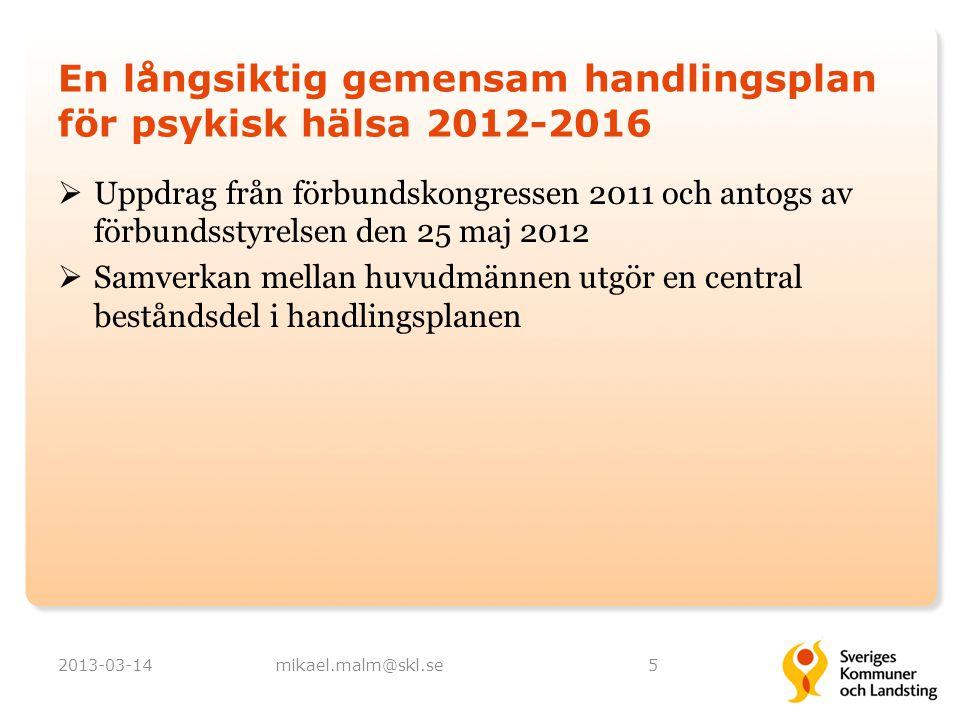 En långsiktig gemensam handlingsplan för psykisk hälsa 2012-2016