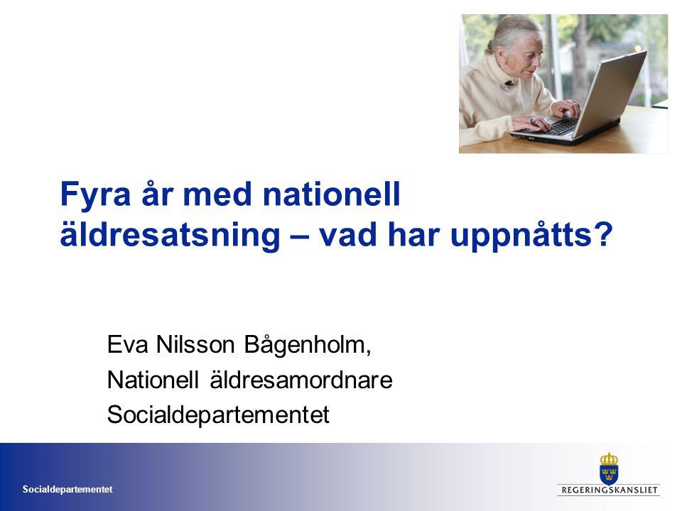Fyra år med nationell äldresatsning – vad har uppnåtts