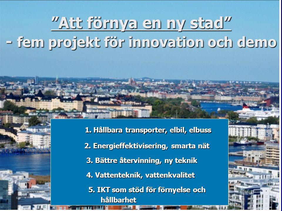 Att förnya en ny stad - fem projekt för innovation och demo
