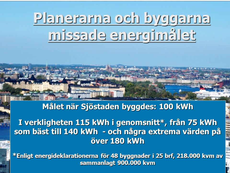 Planerarna och byggarna missade energimålet