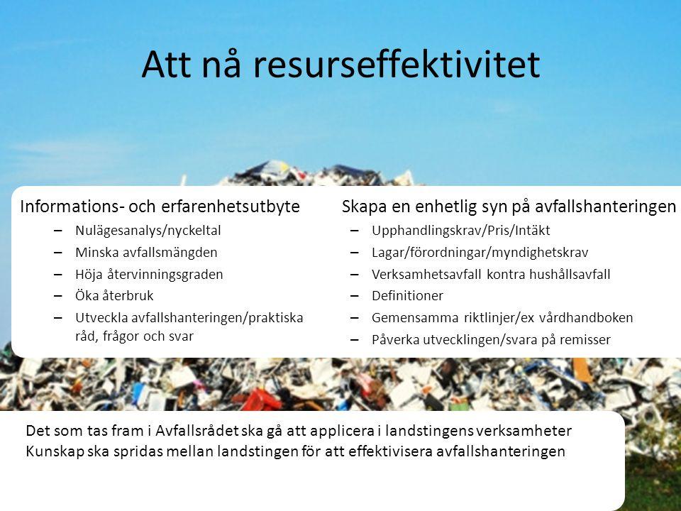 Att nå resurseffektivitet
