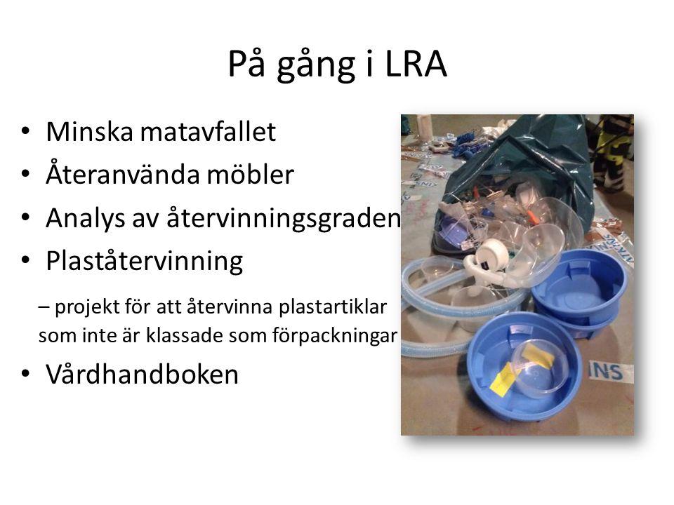På gång i LRA Minska matavfallet Återanvända möbler