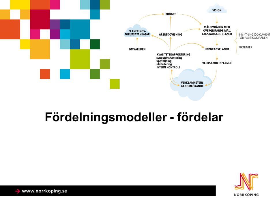 Fördelningsmodeller - fördelar