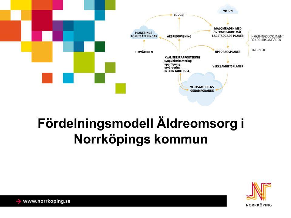 Fördelningsmodell Äldreomsorg i Norrköpings kommun