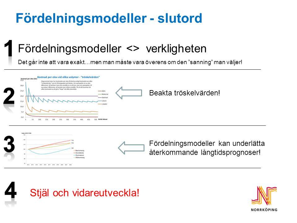 Fördelningsmodeller - slutord