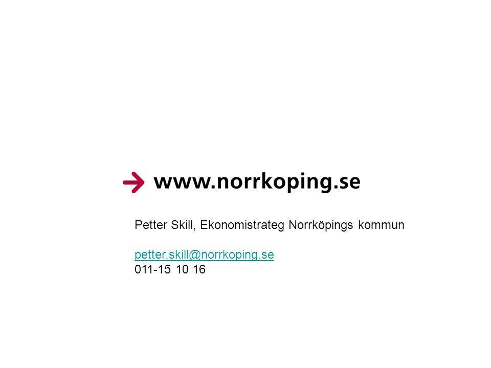 Petter Skill, Ekonomistrateg Norrköpings kommun