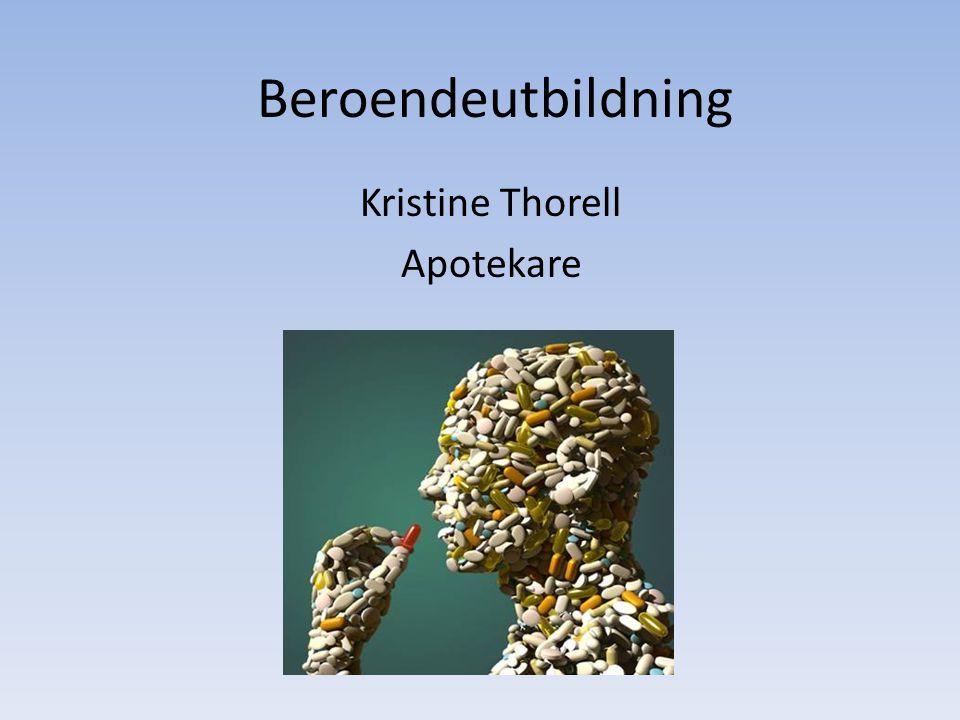 Kristine Thorell Apotekare