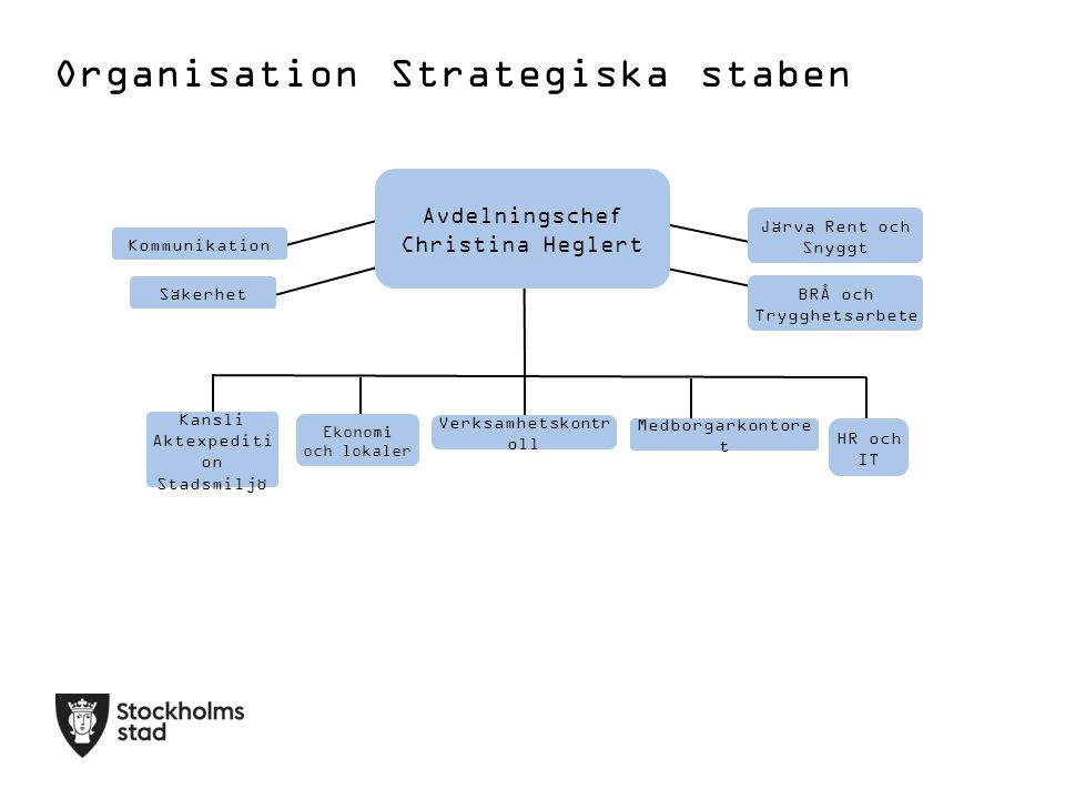 Organisation Strategiska staben