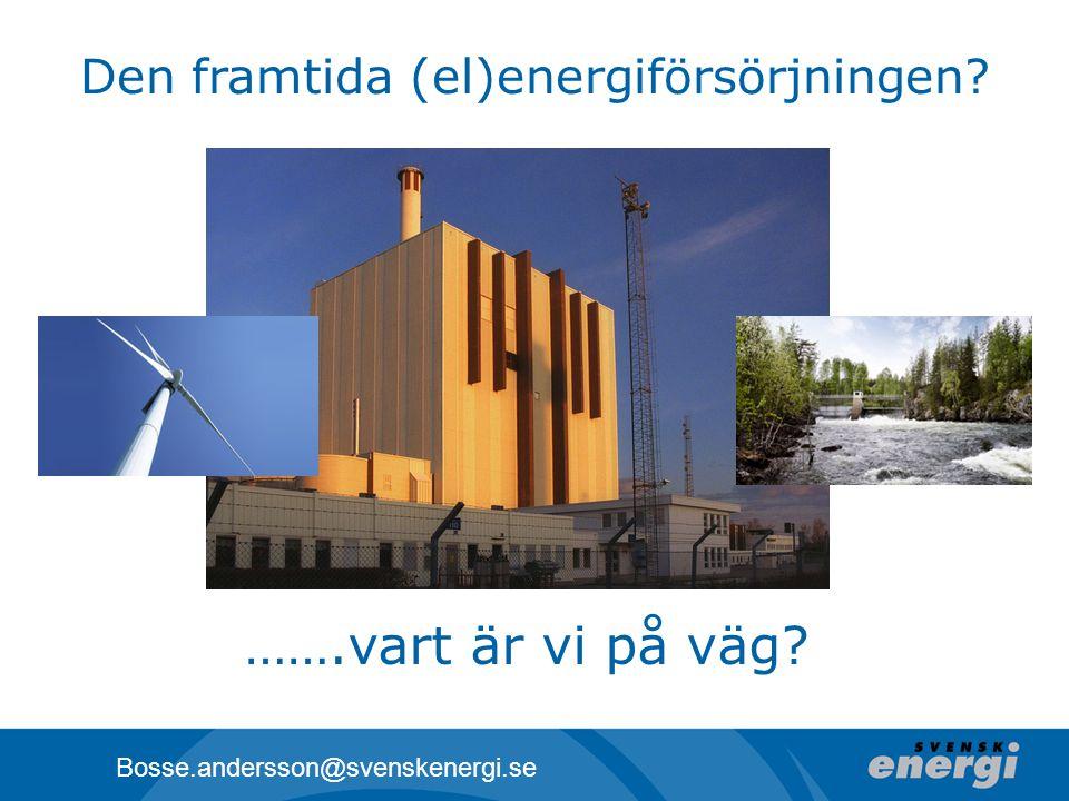 Den framtida (el)energiförsörjningen
