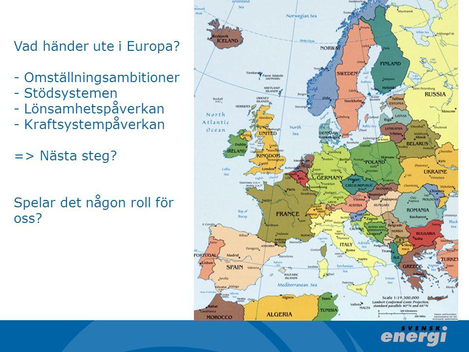 Vad händer ute i Europa.