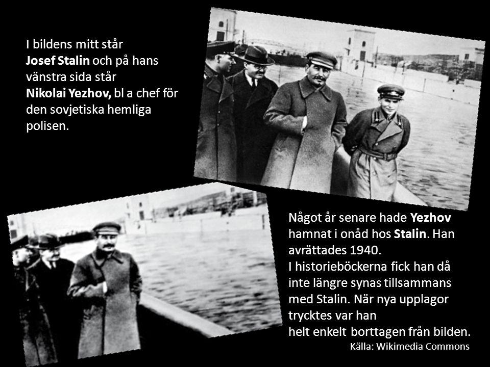 Josef Stalin och på hans vänstra sida står