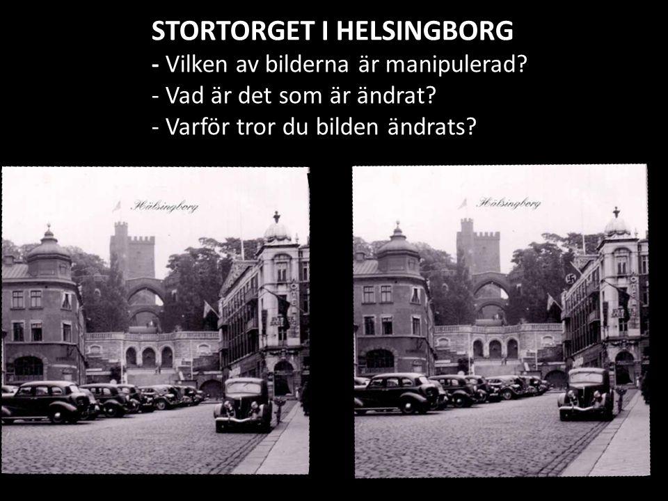 STORTORGET I HELSINGBORG - Vilken av bilderna är manipulerad