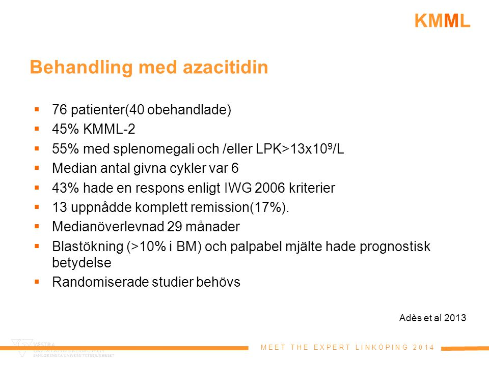Behandling med azacitidin