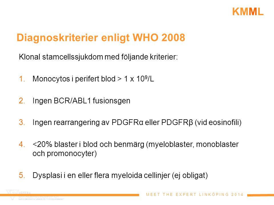 Diagnoskriterier enligt WHO 2008