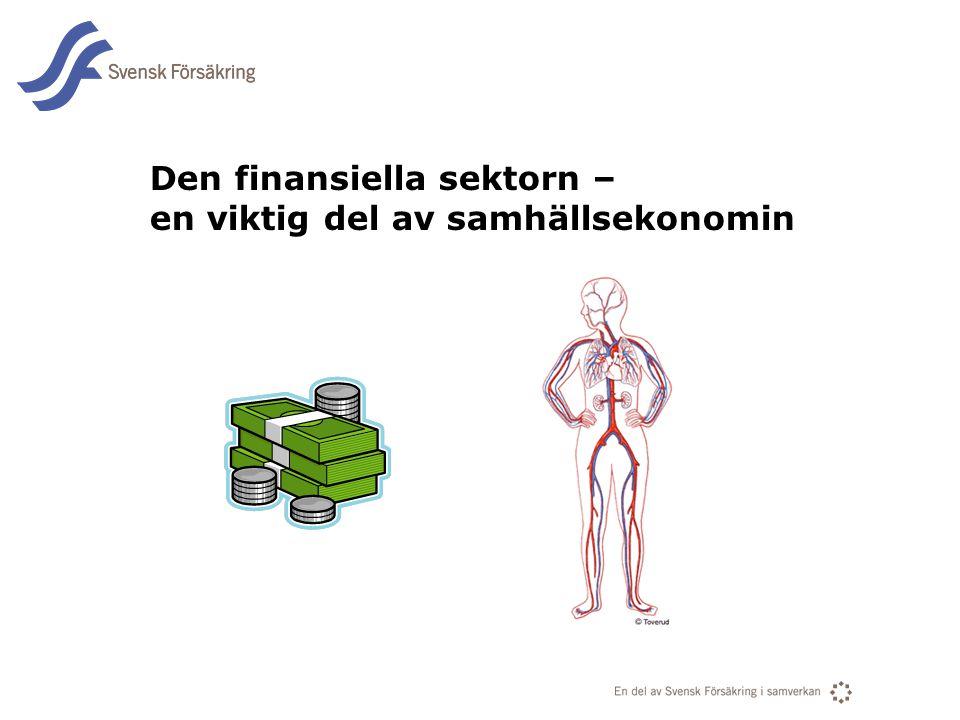 Den finansiella sektorn – en viktig del av samhällsekonomin