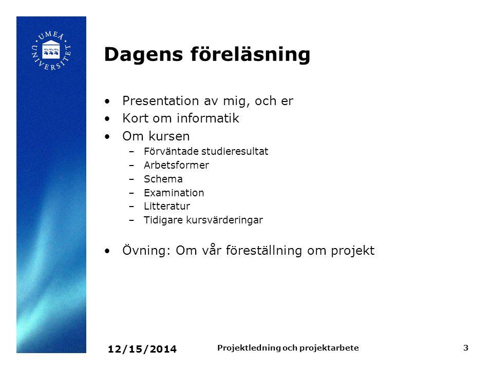 Projektledning och projektarbete
