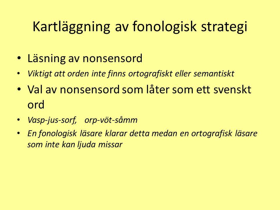 Kartläggning av fonologisk strategi