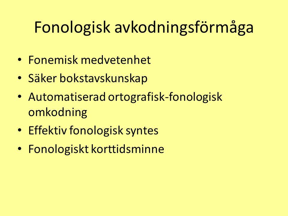 Fonologisk avkodningsförmåga