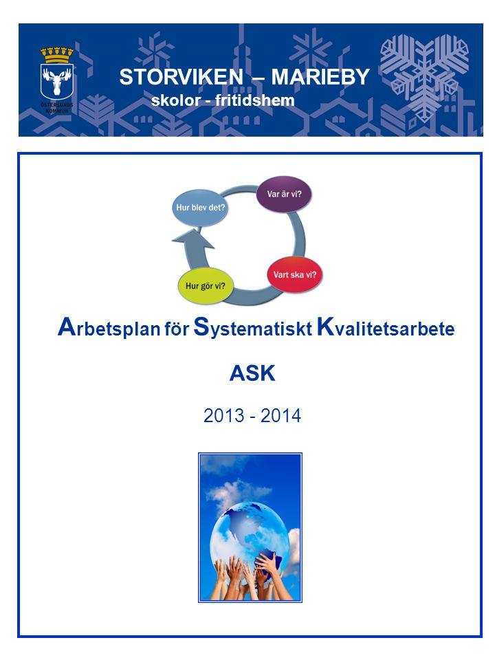 Arbetsplan för Systematiskt Kvalitetsarbete