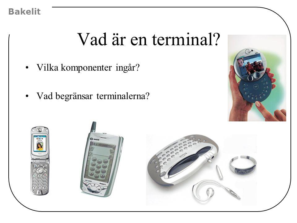 Vad är en terminal Vilka komponenter ingår
