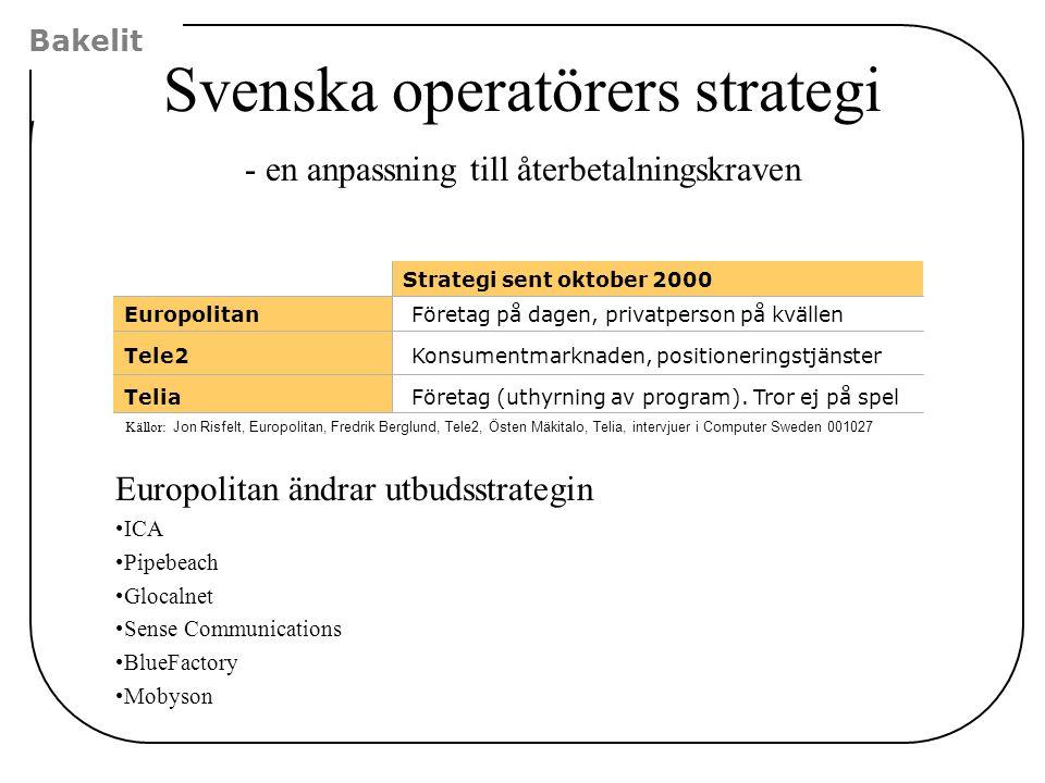 Svenska operatörers strategi