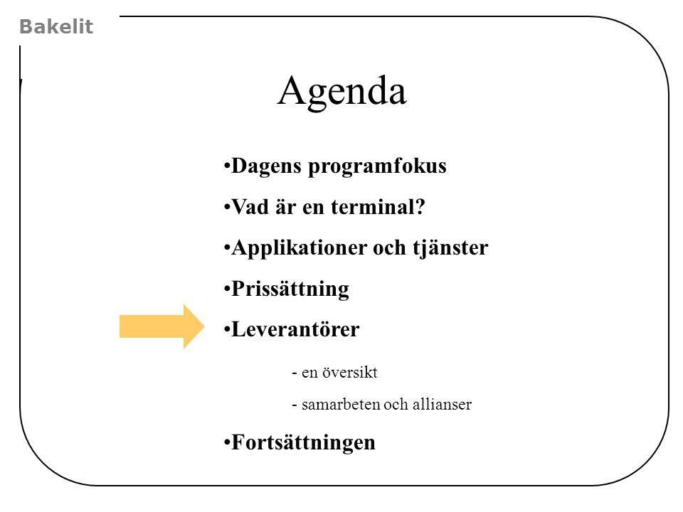 Agenda Dagens programfokus Vad är en terminal