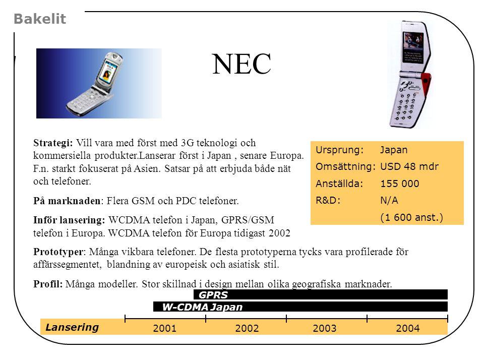 Bakelit NEC.