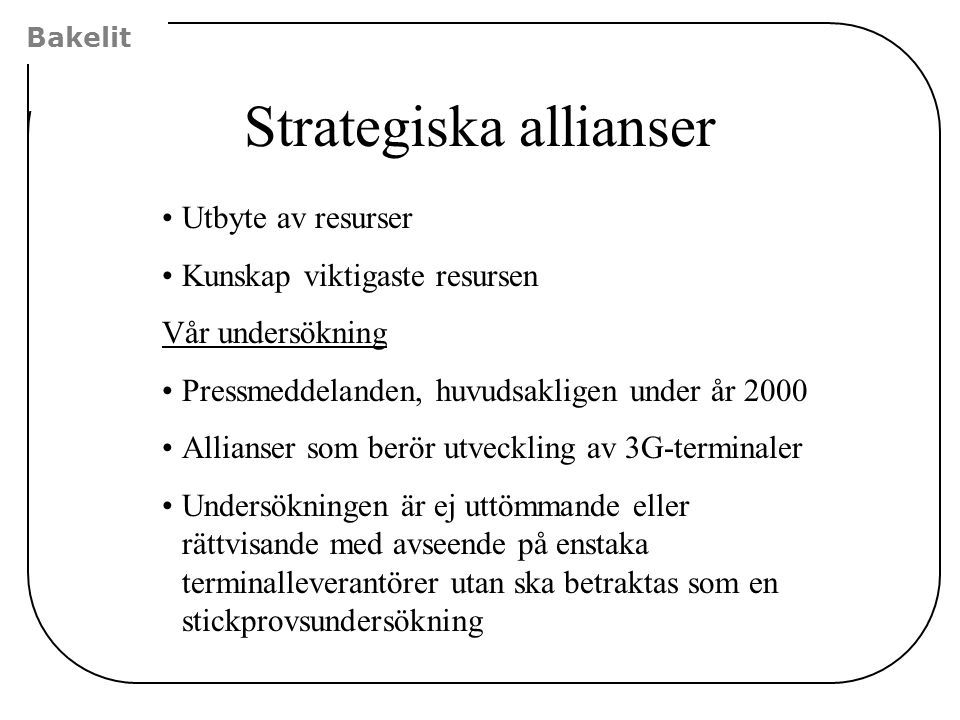 Strategiska allianser