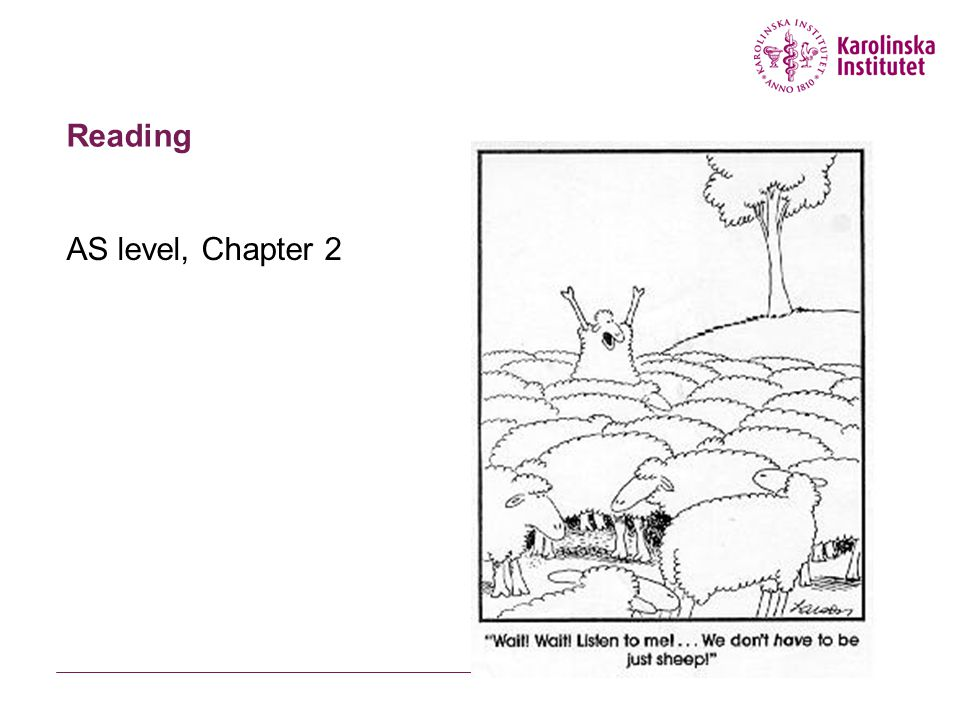 Reading AS level, Chapter 2