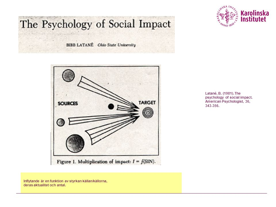 Latané, B. (1981). The psychology of social impact