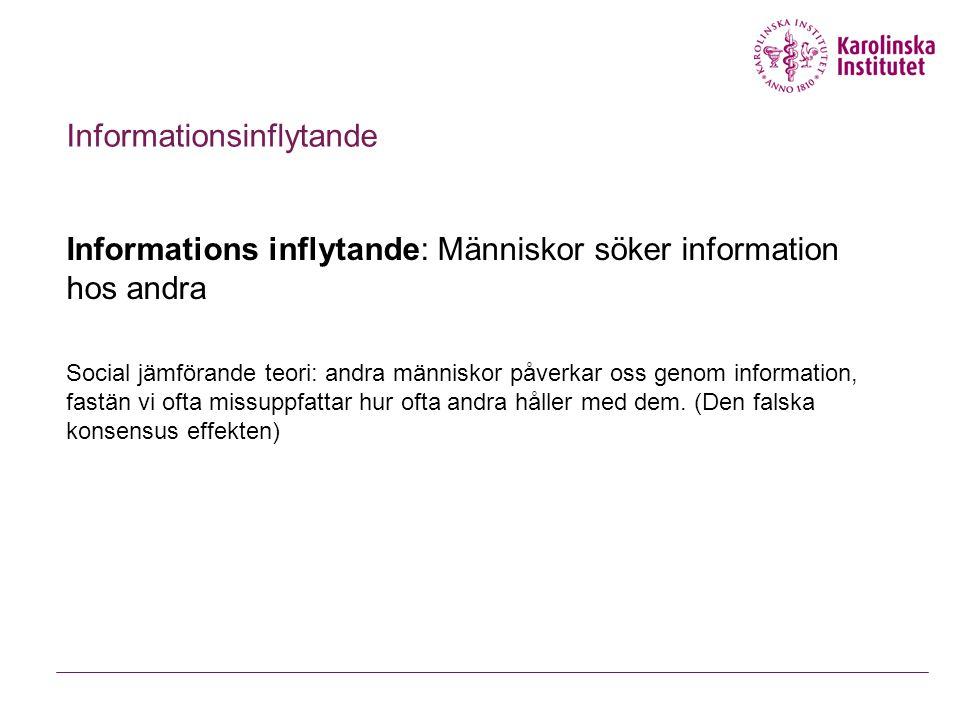 Informationsinflytande