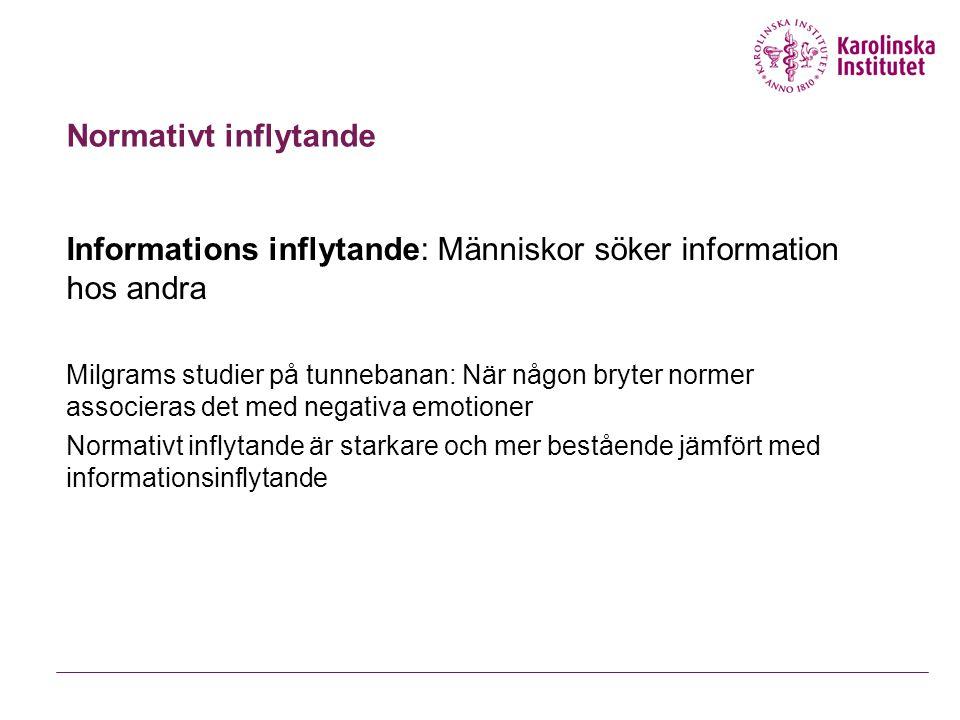 Informations inflytande: Människor söker information hos andra